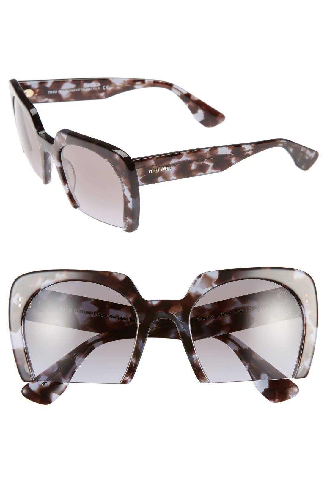 Main Image - Miu Miu 53mm Sunglasses