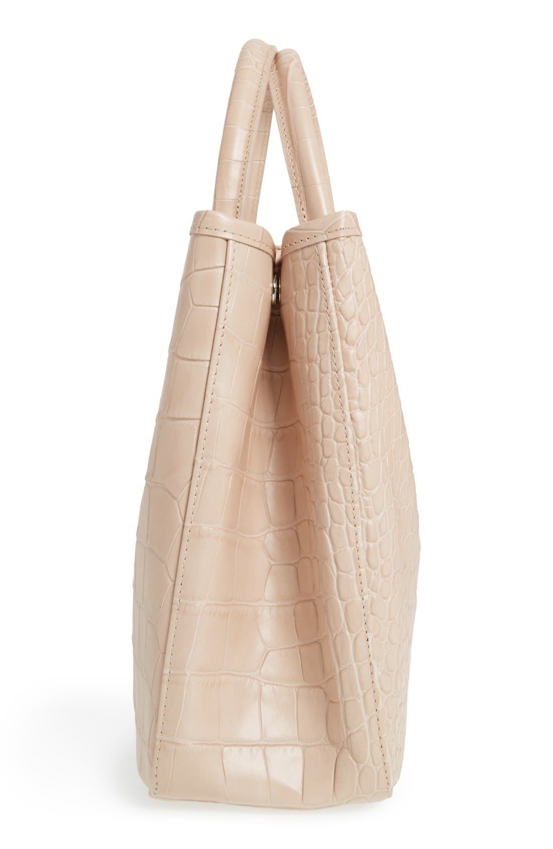 Alternate Image 5  - Longchamp 'Small Roseau Croco' Shoulder Tote