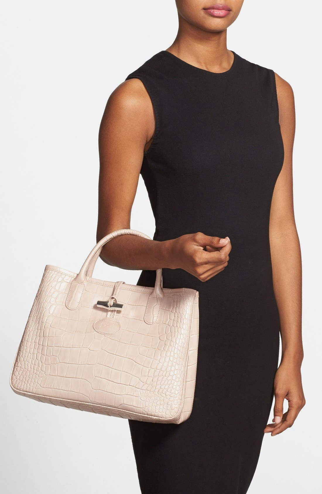 Alternate Image 2  - Longchamp 'Small Roseau Croco' Shoulder Tote
