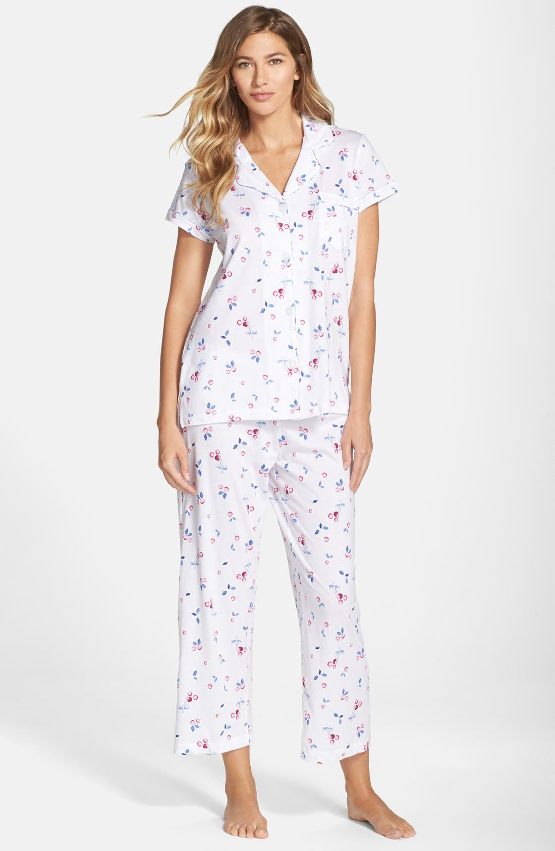 Alternate Image 1 Selected - Carole Hochman Designs 'Embellished Foulard' Pajamas
