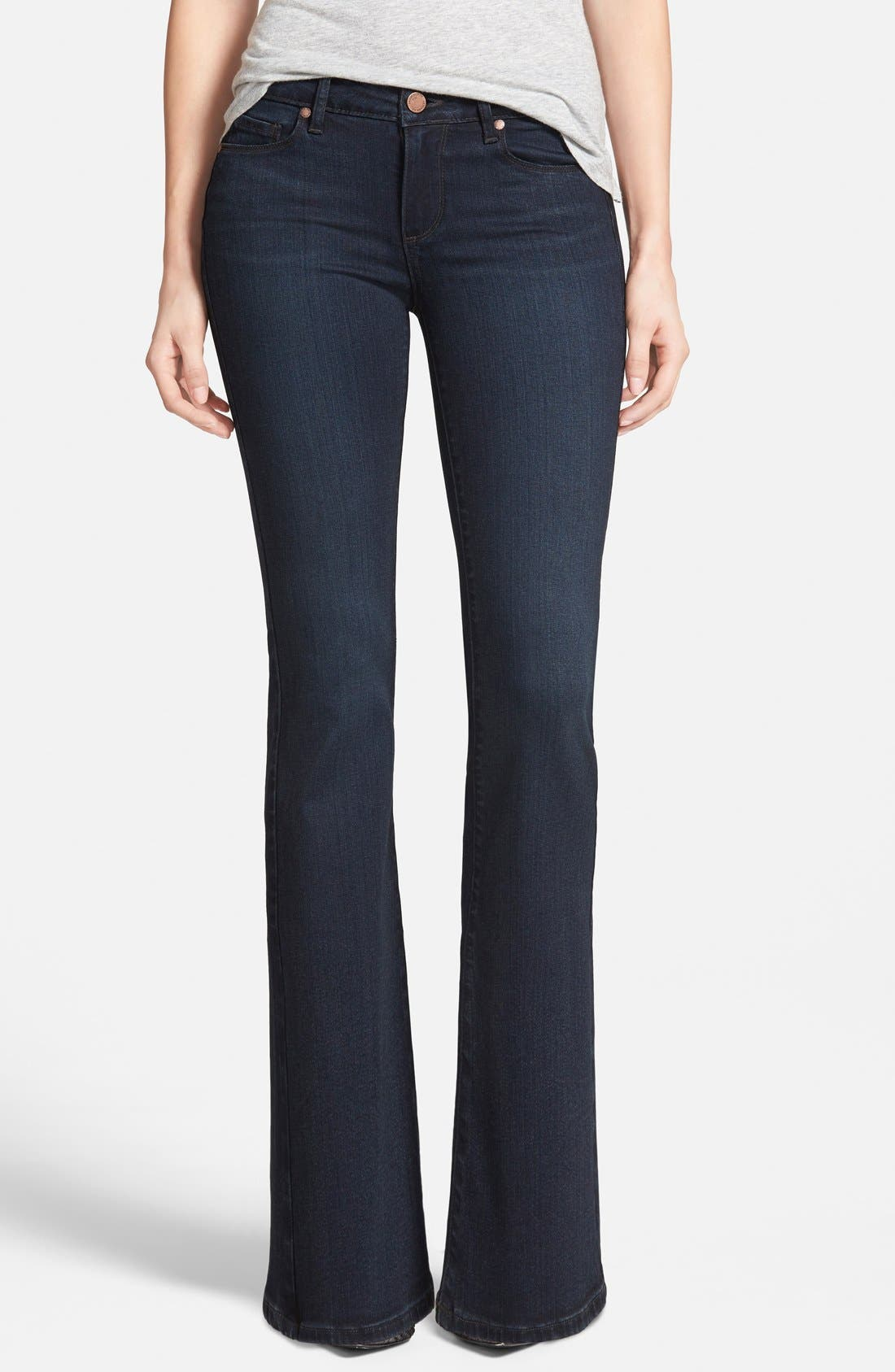 Alternate Image 1 Selected - Paige Denim 'Skyline' Bootcut Jeans (Keely) (Petite) (Nordstrom Exclusive)