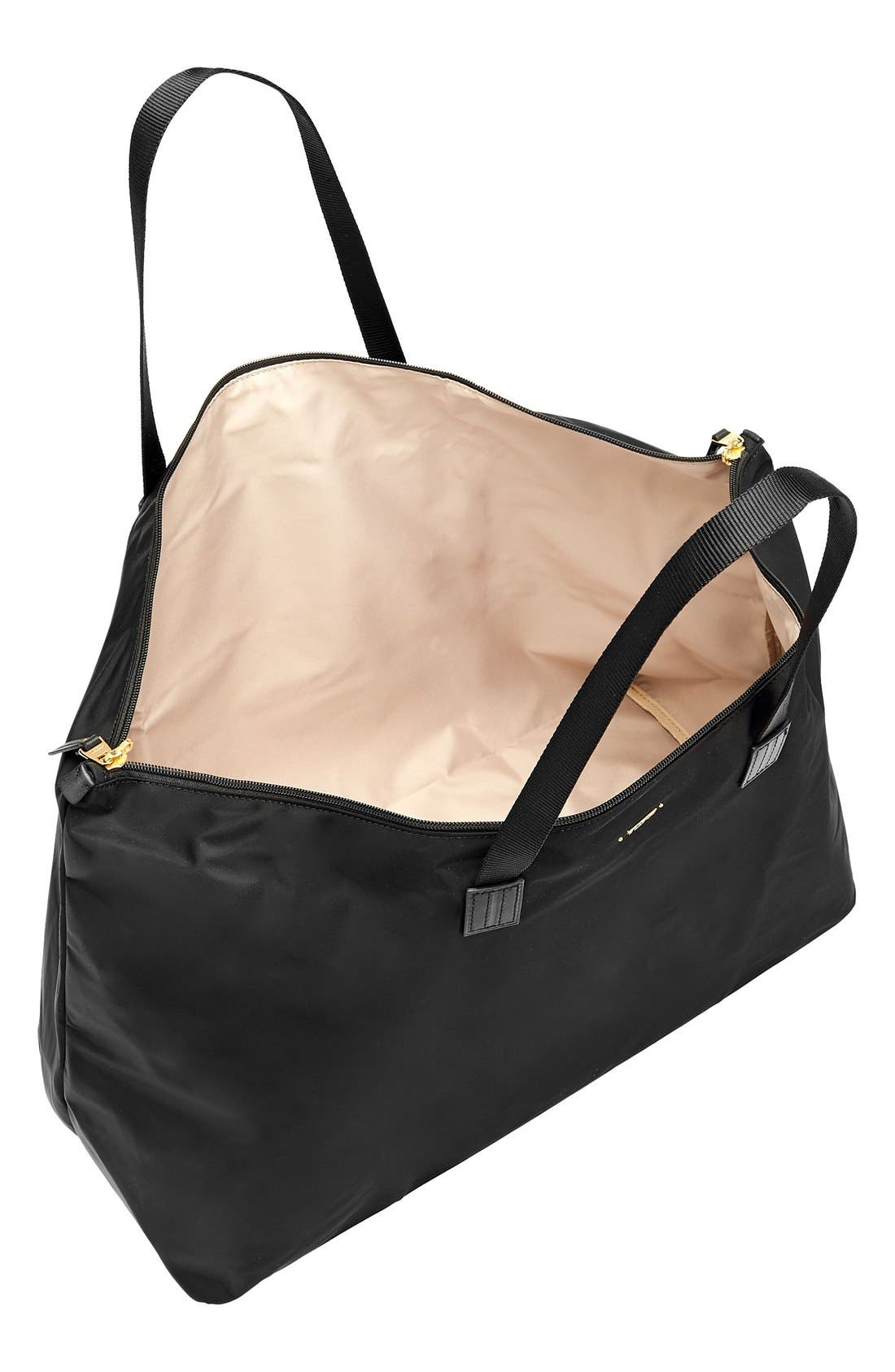 Just in Case Nylon Travel Tote,                             Alternate thumbnail 2, color,                             Black
