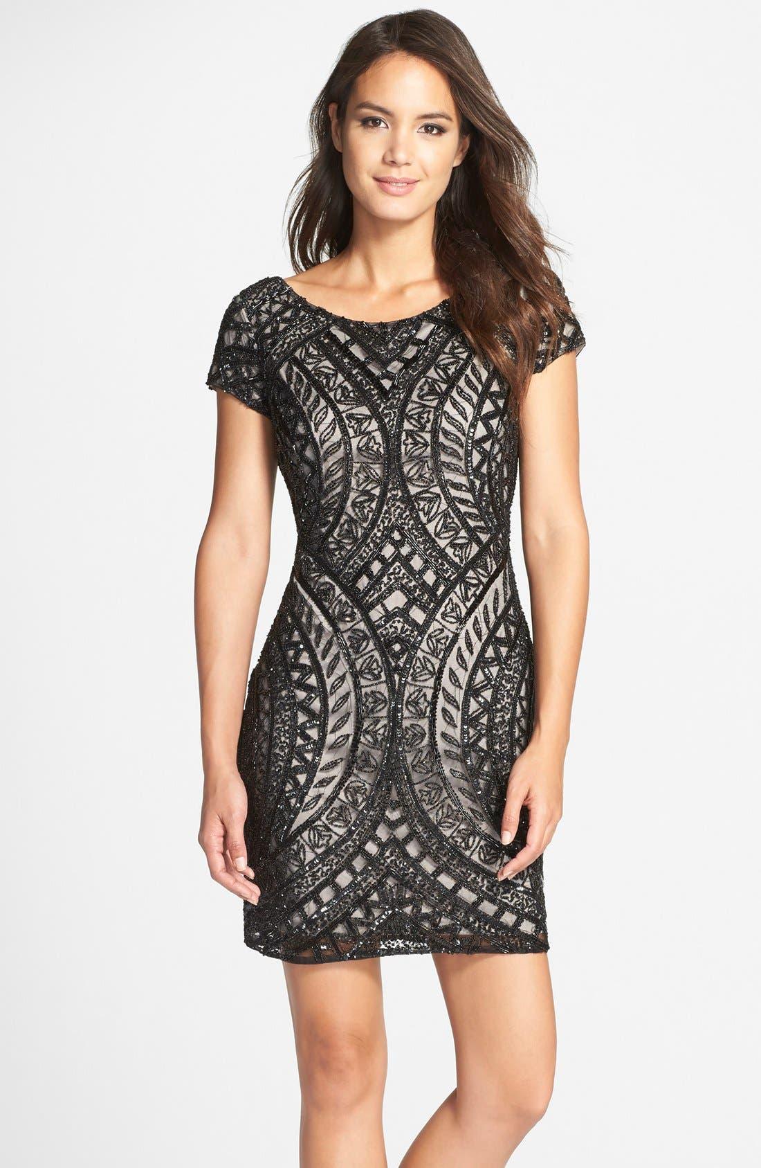 Alternate Image 1 Selected - Adrianna Papell Beaded Sheath Dress