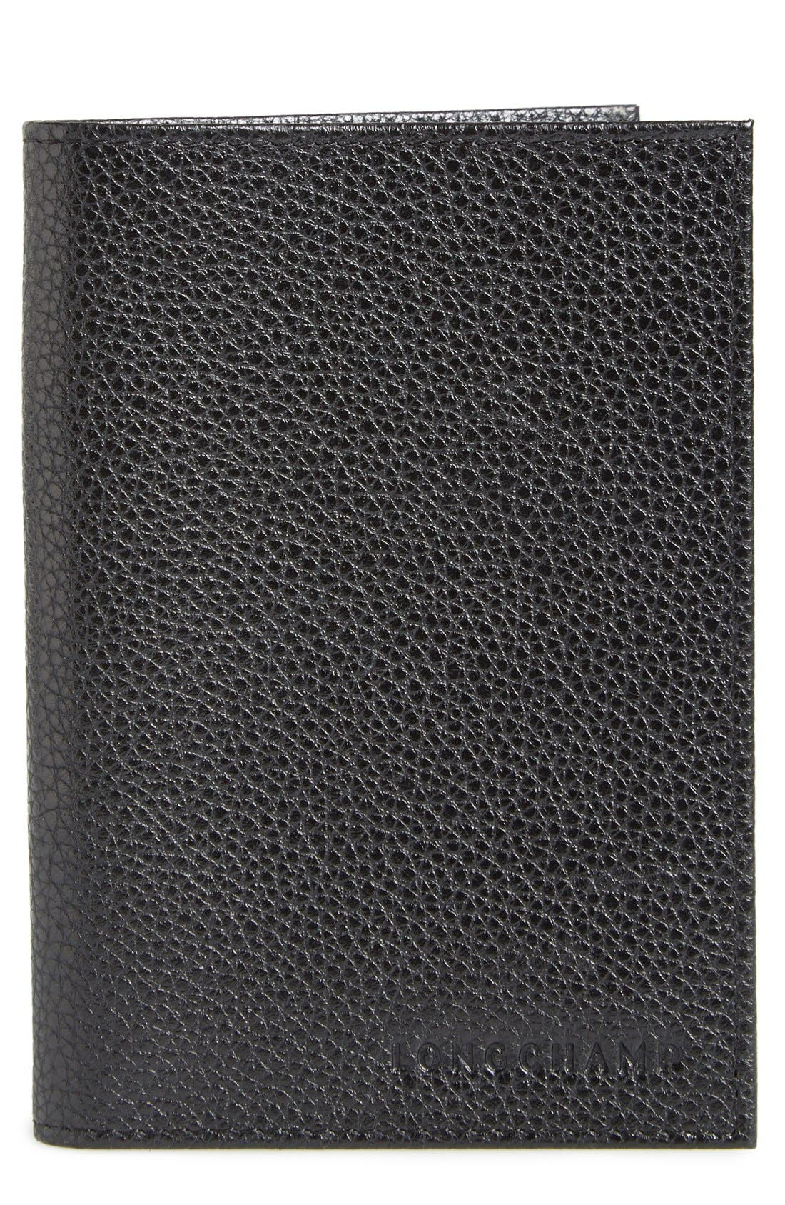 Alternate Image 1 Selected - Longchamp Calfskin Leather Passport Case