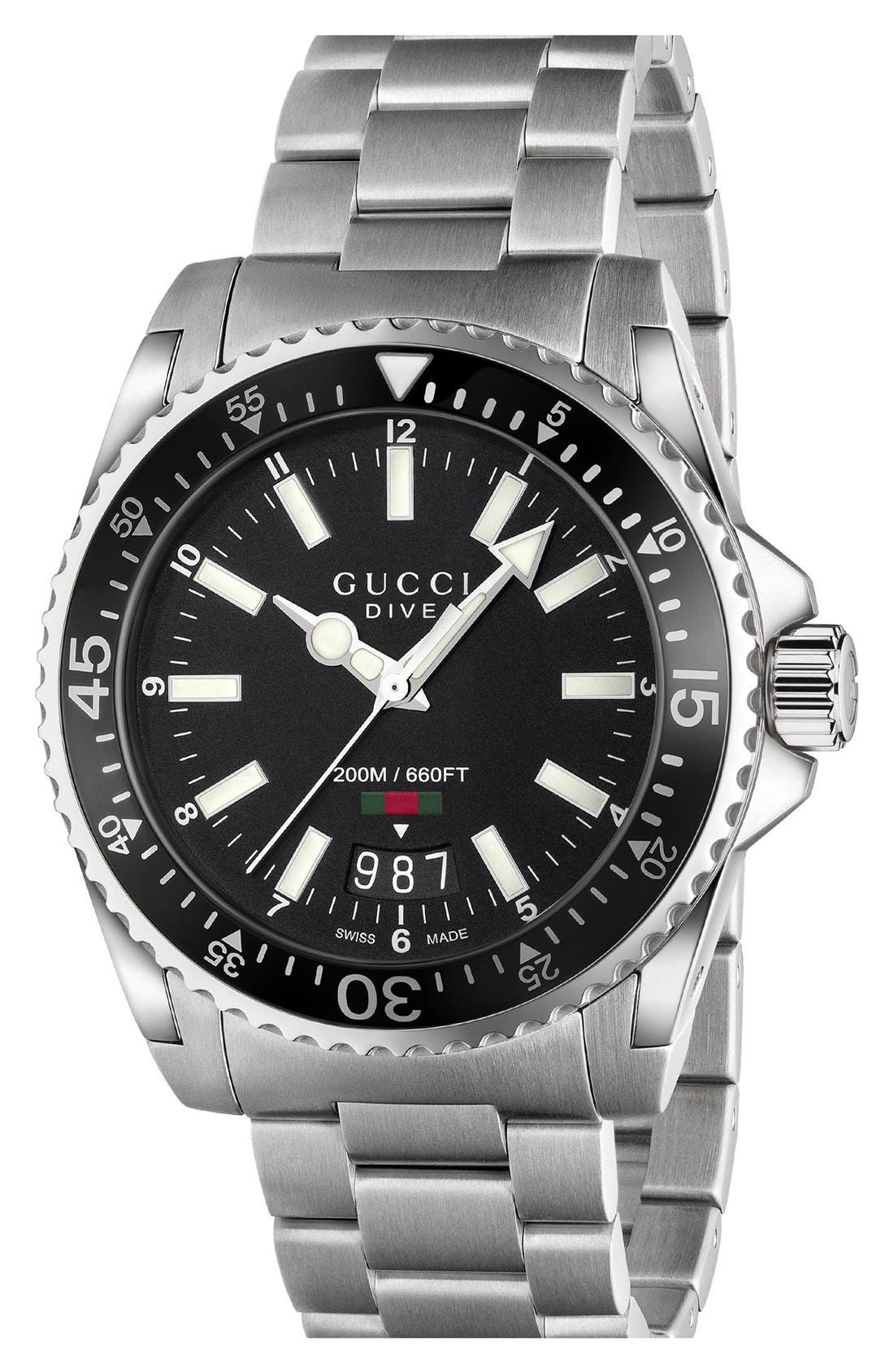 Alternate Image 1 Selected - Gucci Dive Bracelet Watch, 40mm