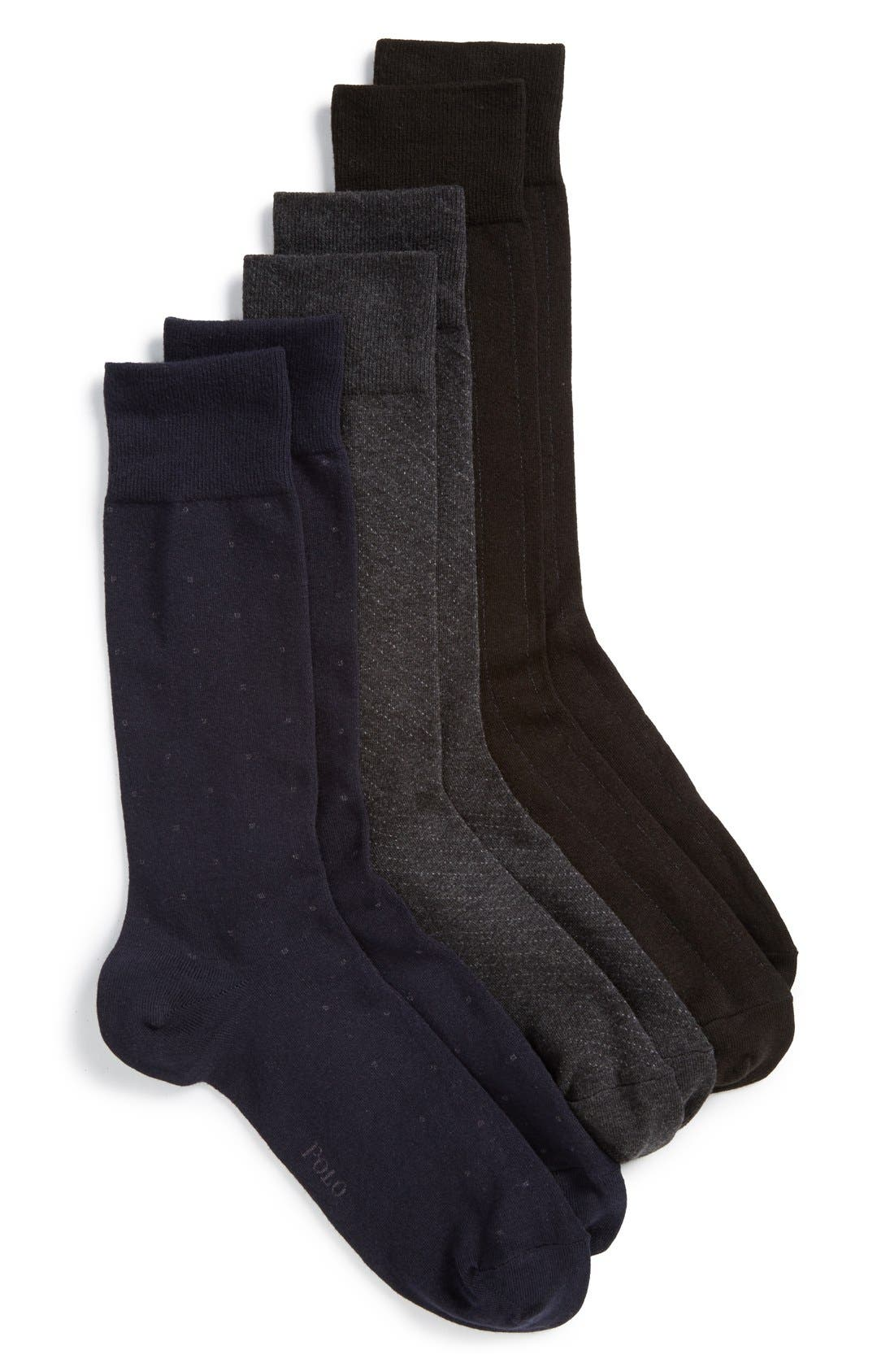 Polo Ralph Lauren Dress Socks (3-Pack)