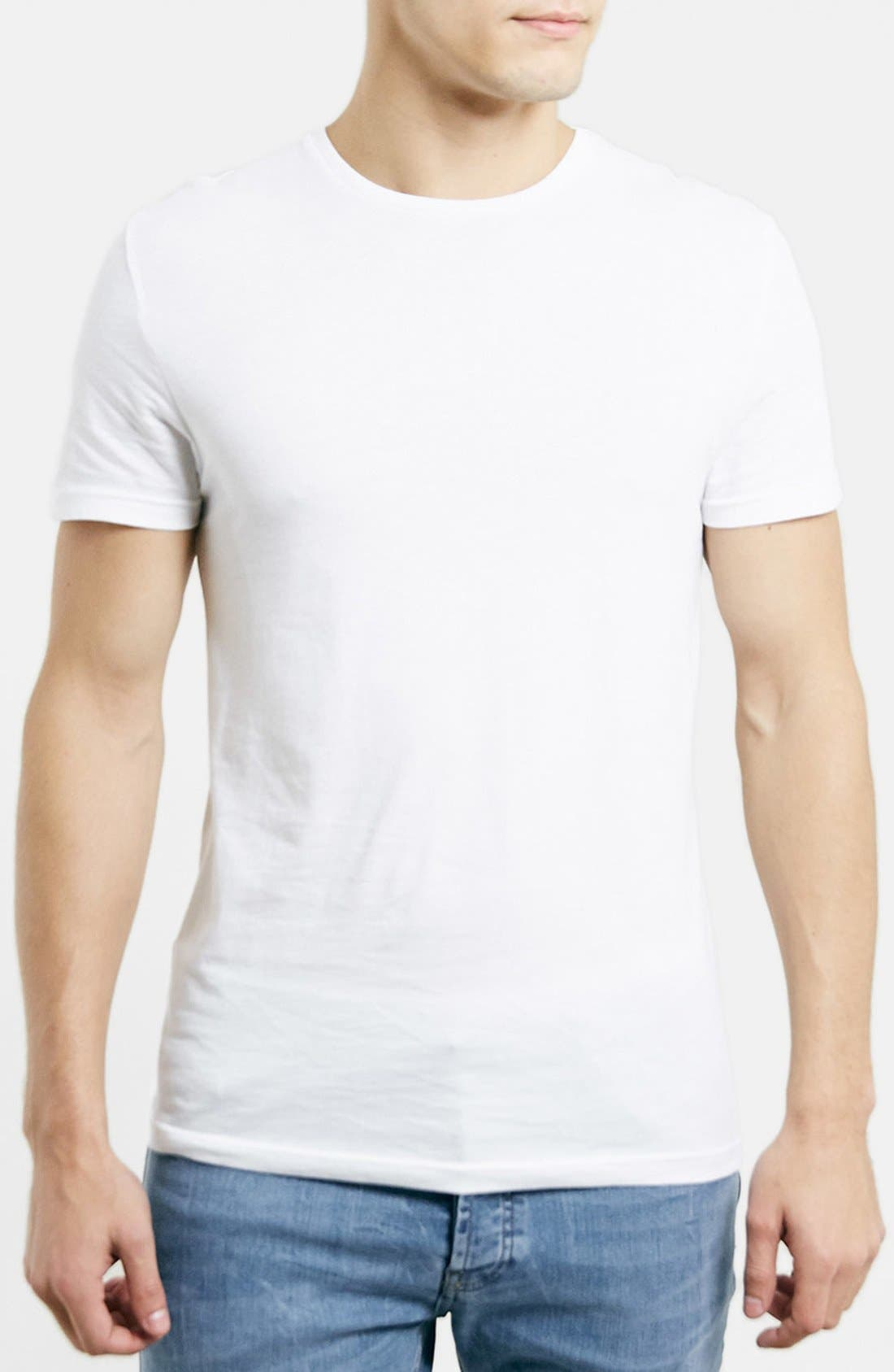 Topman Slim Fit Crewneck T-Shirt