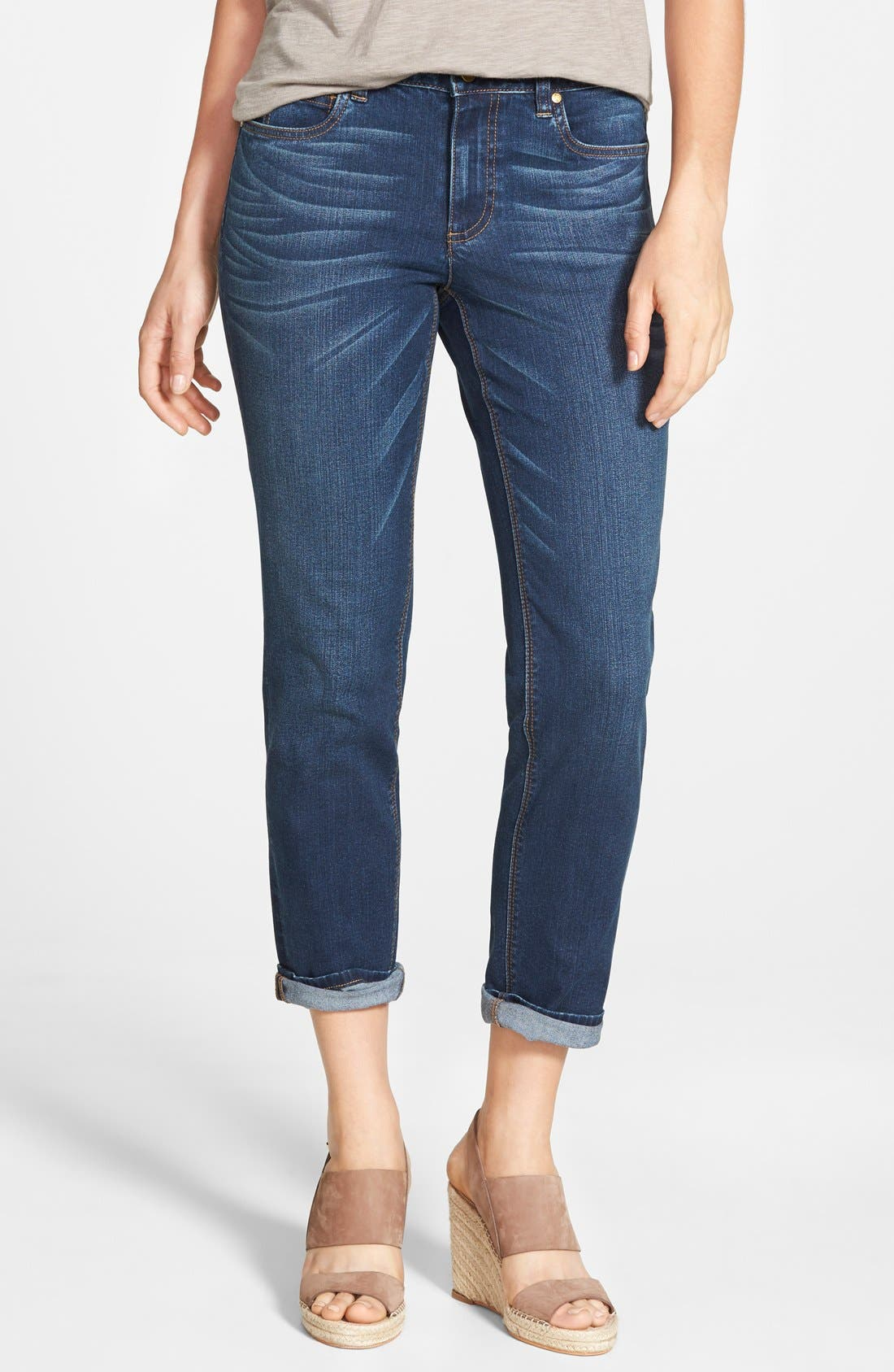 Alternate Image 1 Selected - Two by Vince Camuto Stretch Boyfriend Jeans (Authentic)