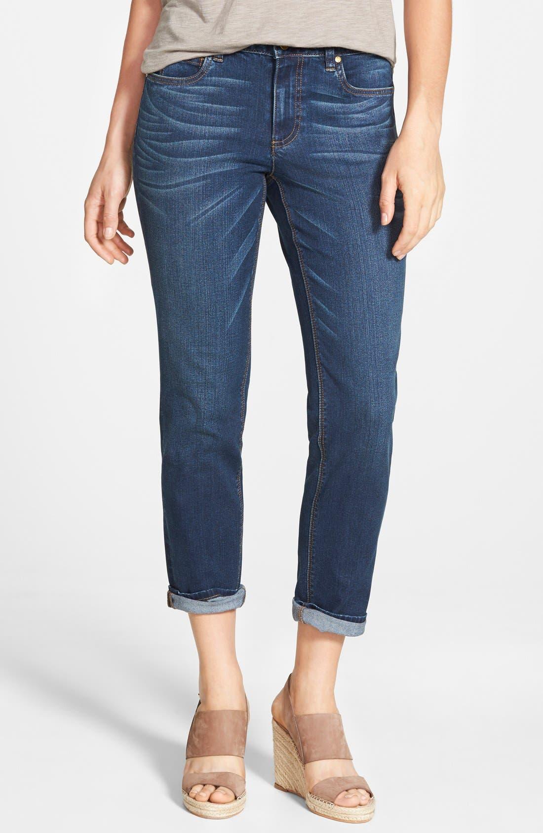 Stretch Boyfriend Jeans,                         Main,                         color, Authentic