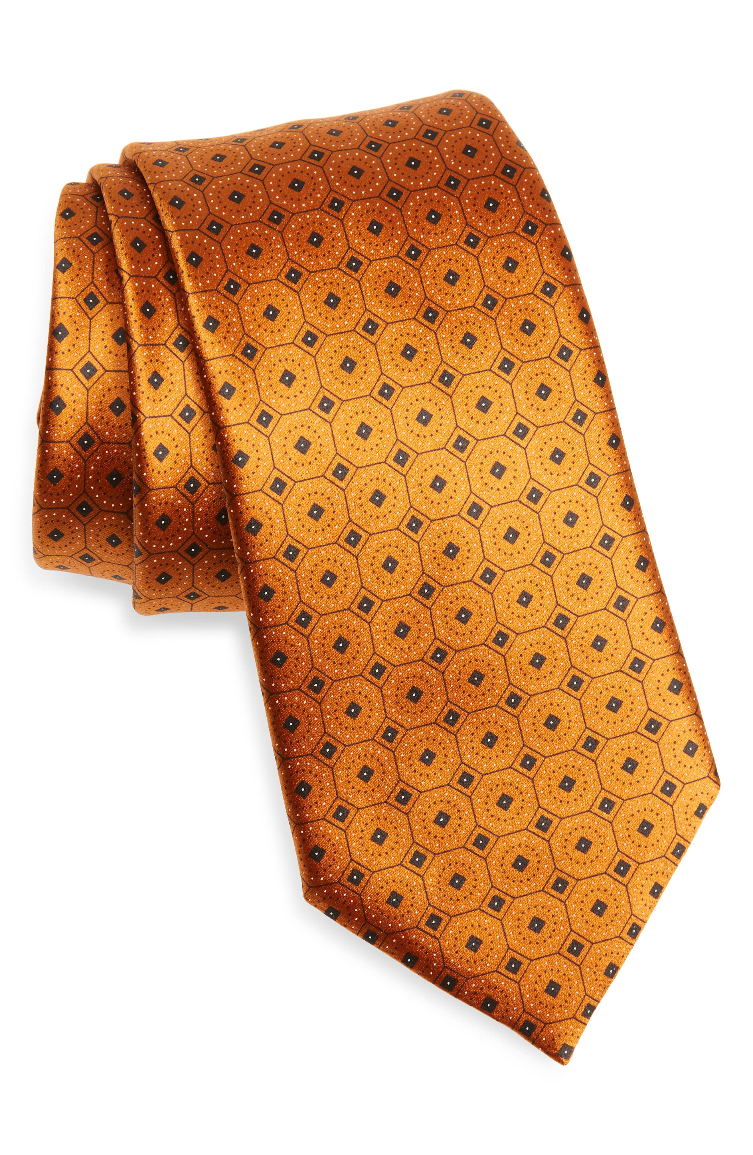 Gold 50 Youth Solid Woven Silk Neck Tie
