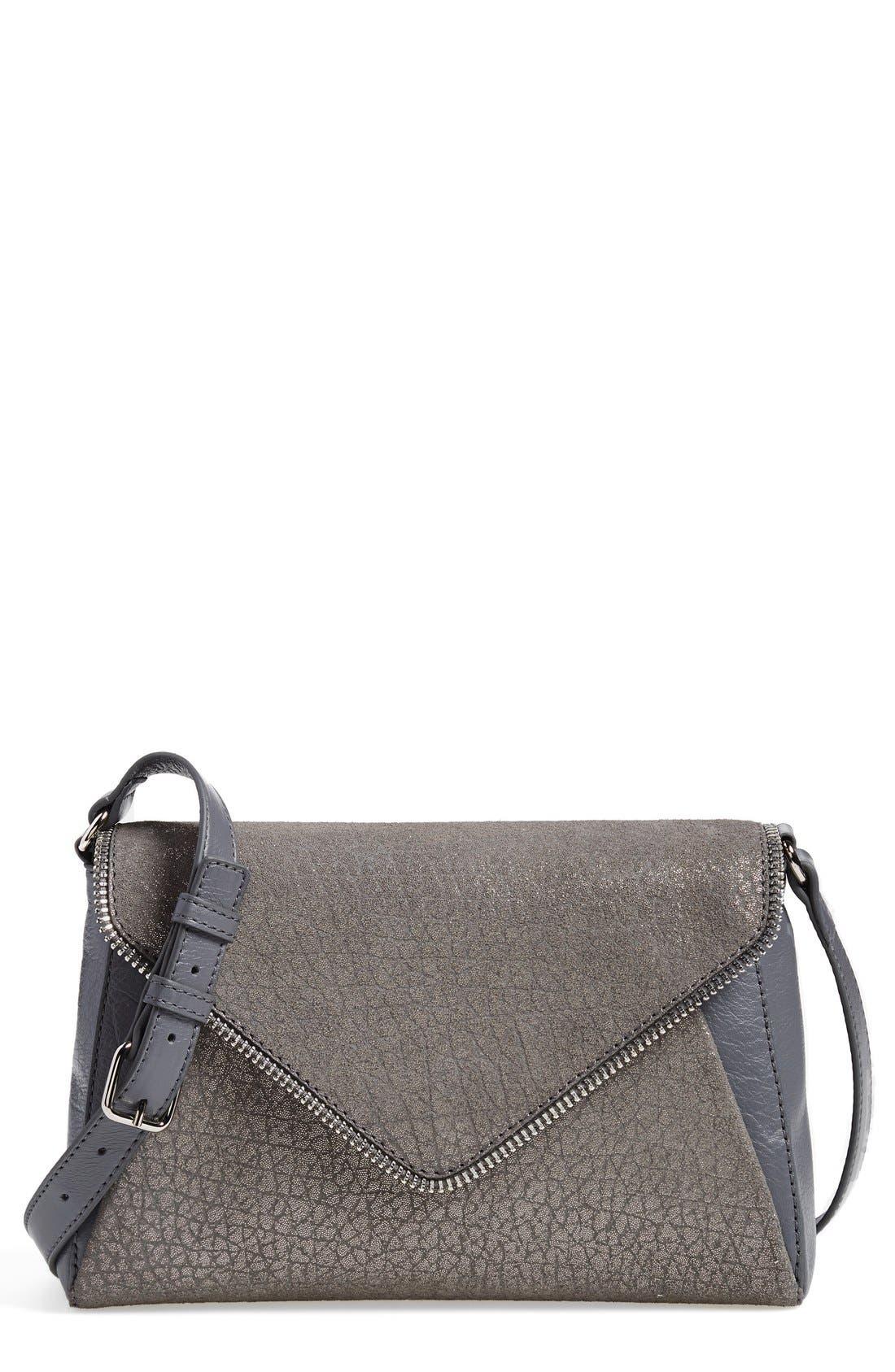 Alternate Image 1 Selected - Halogen® Zip Detail Envelope Crossbody Bag