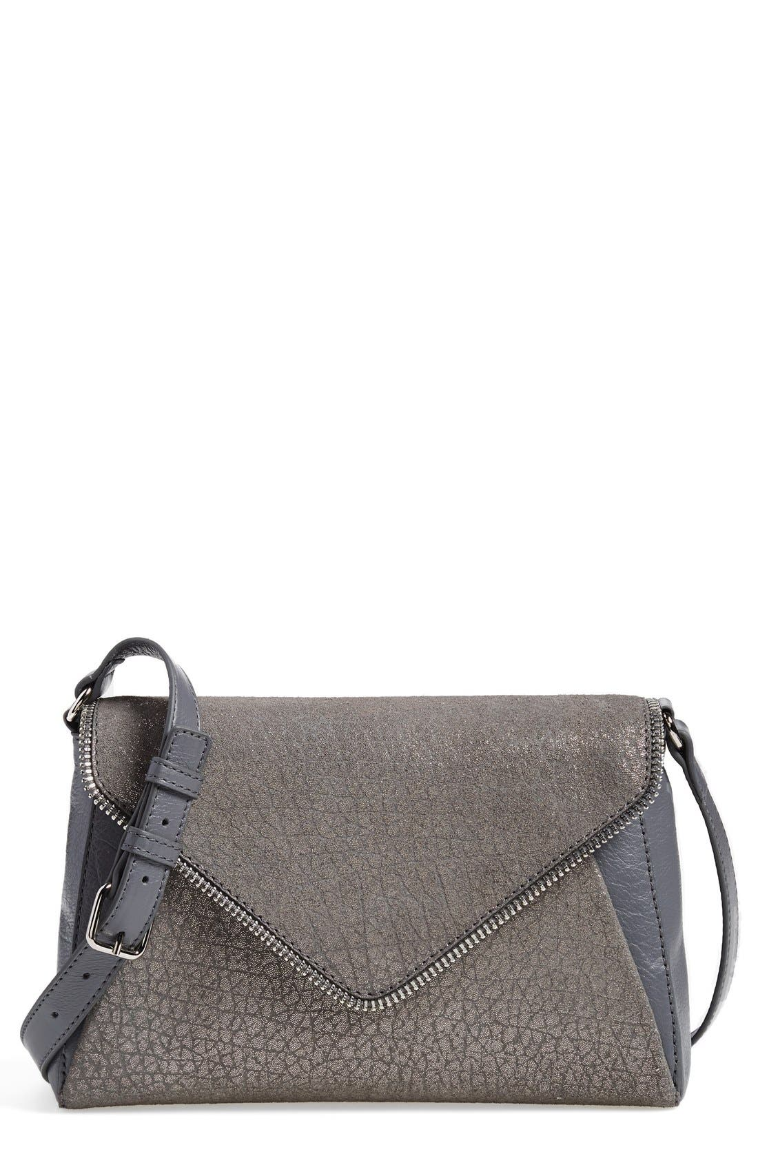 Main Image - Halogen® Zip Detail Envelope Crossbody Bag