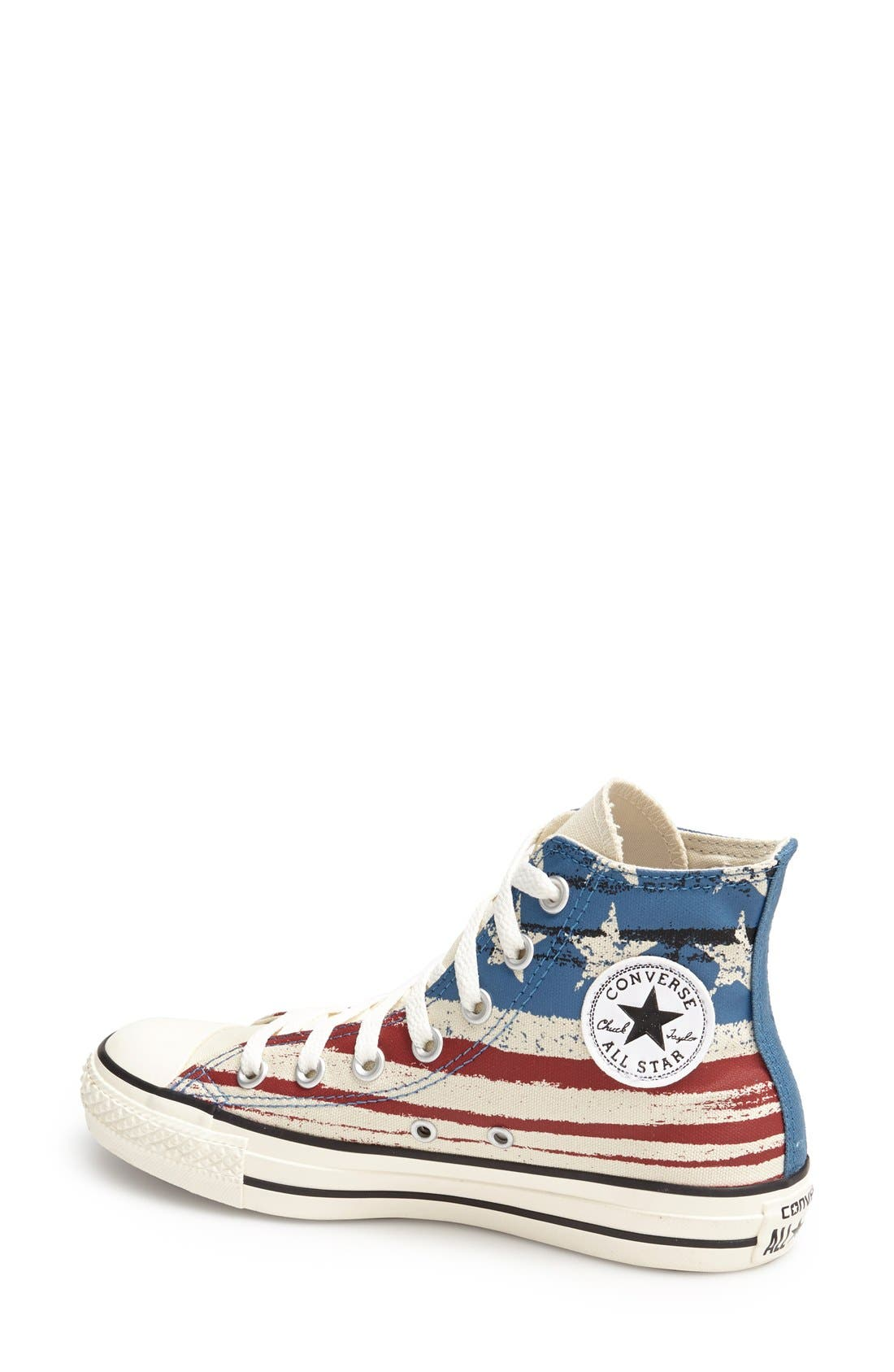 Alternate Image 2  - Converse Chuck Taylor® Flag Print High Top Sneaker (Women)