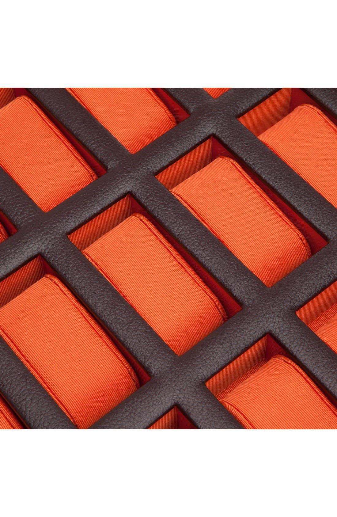 Windsor Watch Case,                             Alternate thumbnail 4, color,                             Brown/ Orange