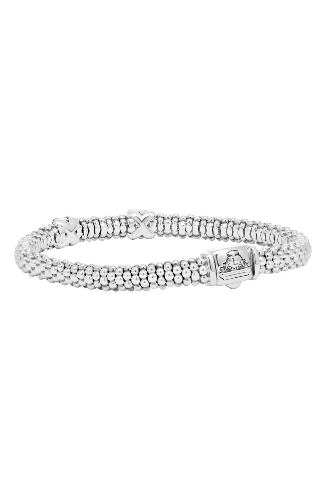 Alternate Image 2  - Lagos 'Signature Caviar' Diamond Rope Bracelet (Online Only)