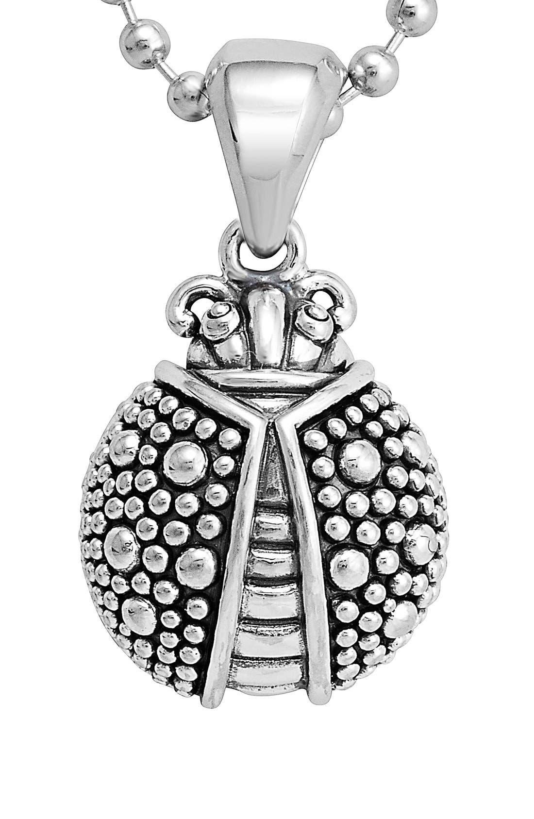 'Rare Wonders - Ladybug' Long Talisman Necklace,                             Alternate thumbnail 2, color,                             Silver