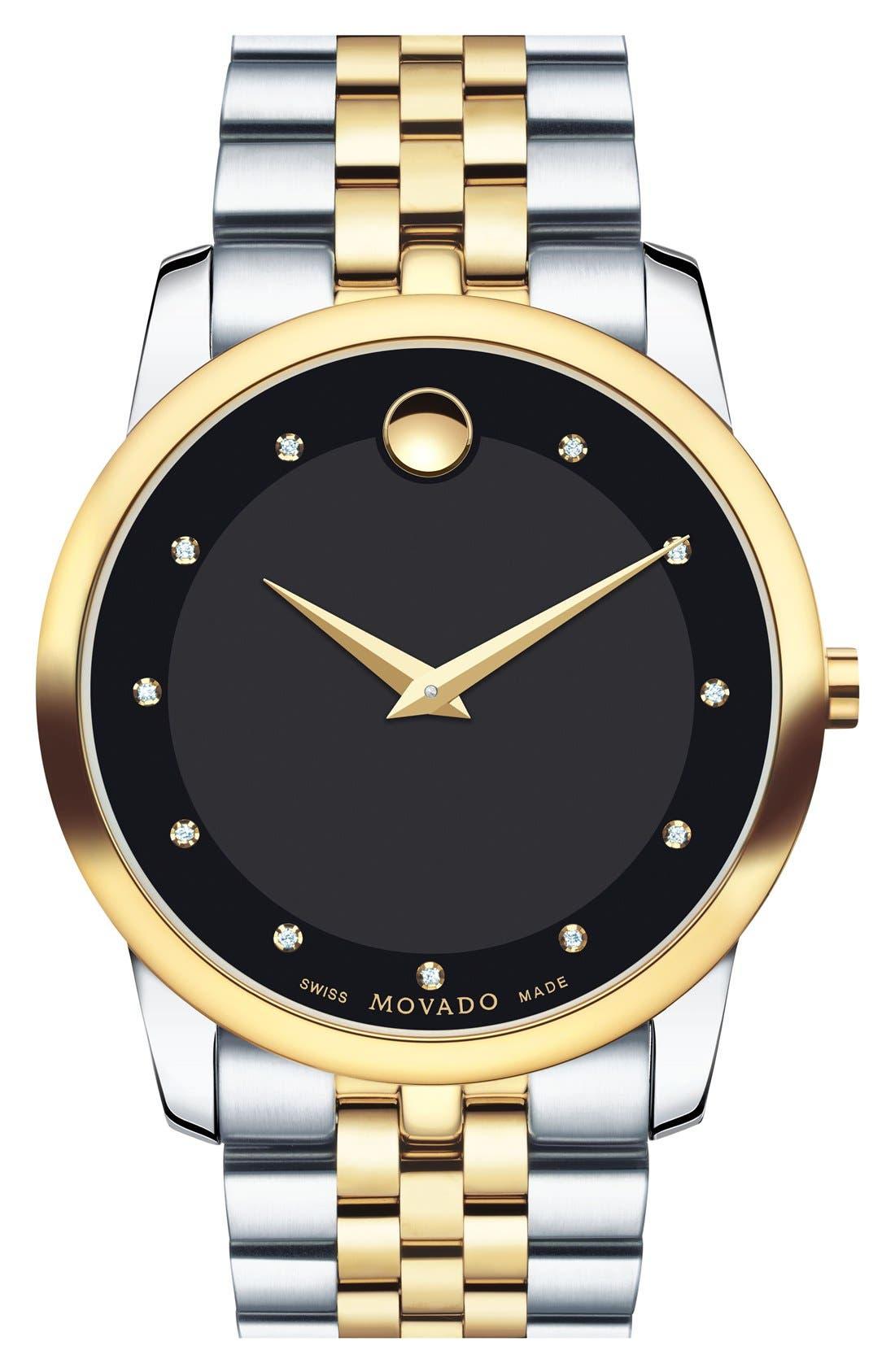 Main Image - MovadoMuseum Bracelet Watch, 40mm