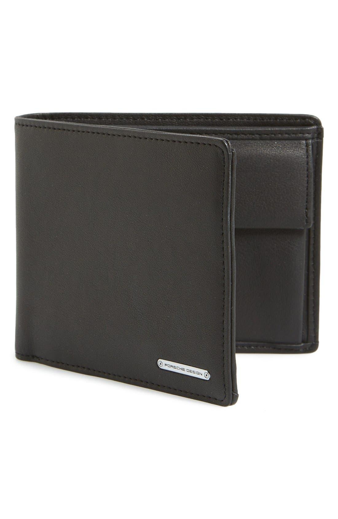 'CL2 2.0' Leather Billfold Wallet,                         Main,                         color, Black