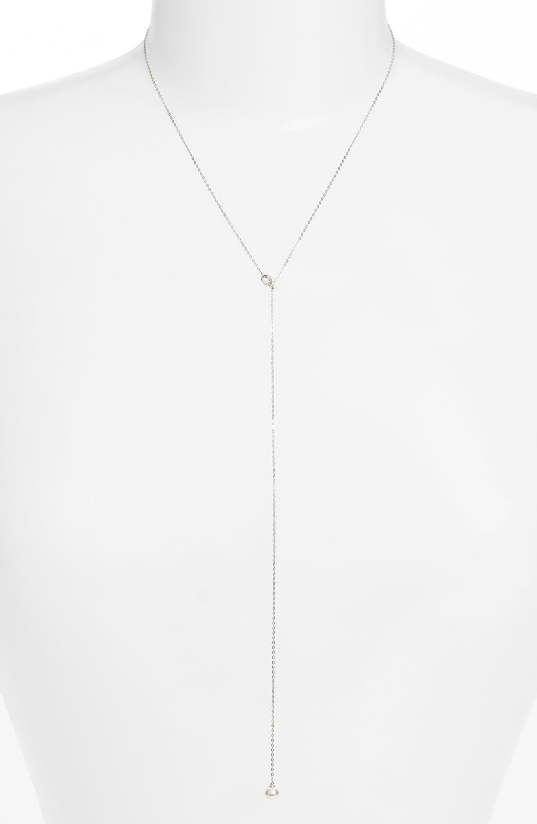 Nadri Faux Pearl Long Y-Necklace