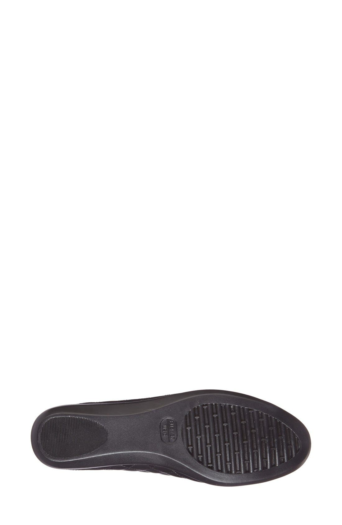 Alternate Image 4  - The FLEXX 'Rise a Smile' Quilted Leather Flat (Women)