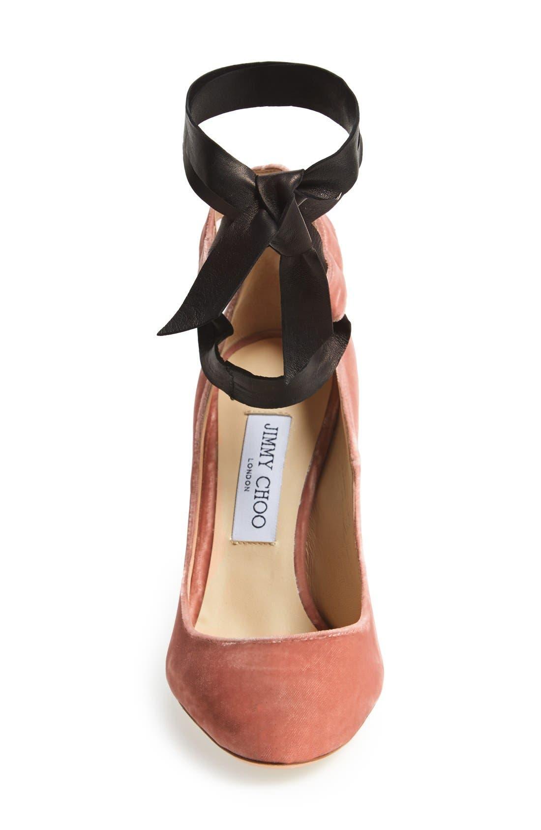 'Rosana' Pump,                             Alternate thumbnail 3, color,                             Ballet Pink Velvet