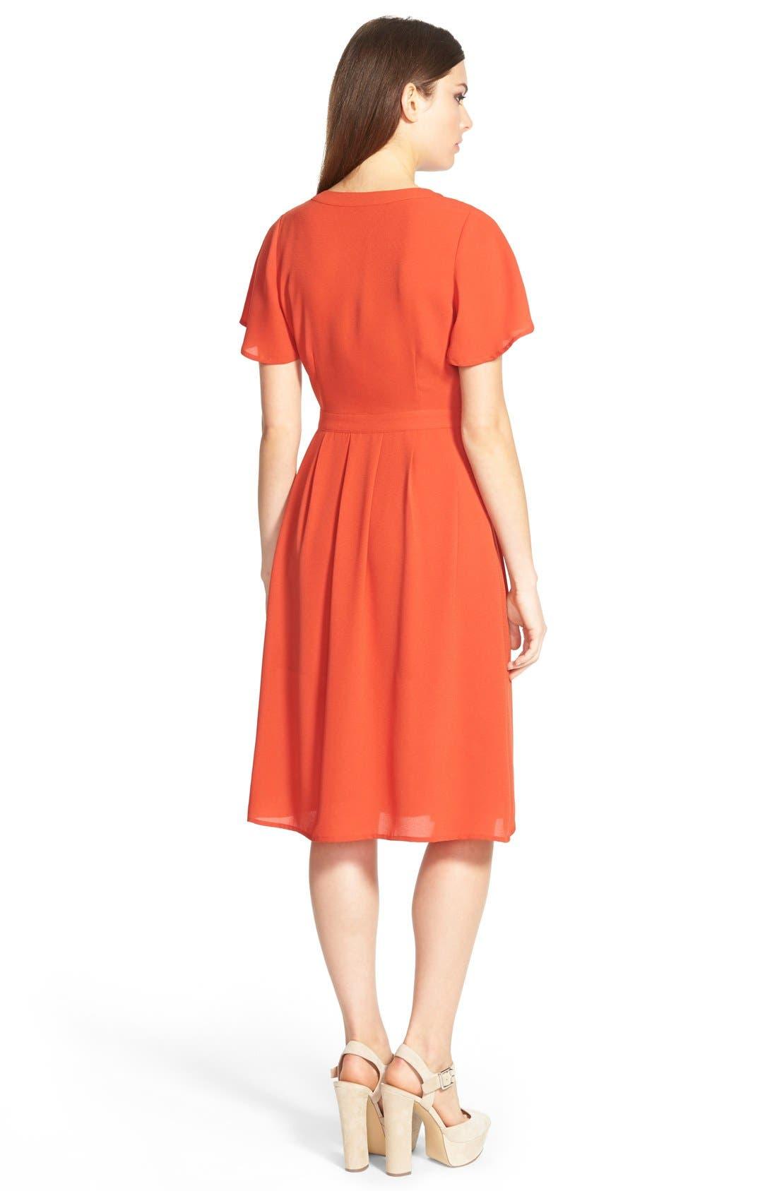 Alternate Image 2  - Storee V-Neck Midi Dress