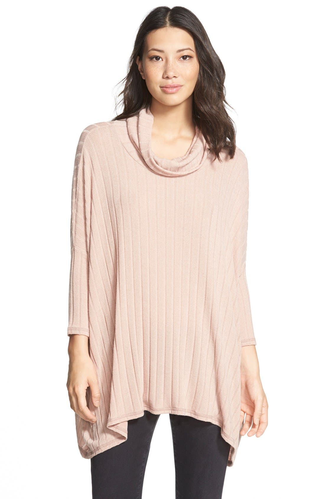 Bobeau Cowl Neck Swing Sweater | Nordstrom