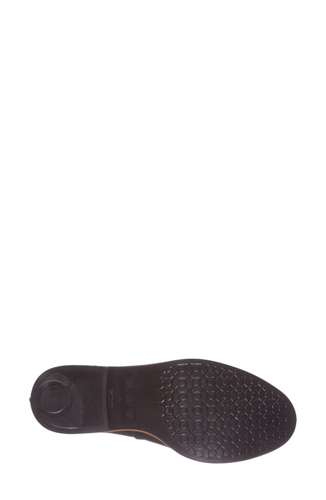 Bernardo Peony Short Waterproof Rain Boot,                             Alternate thumbnail 4, color,                             Black