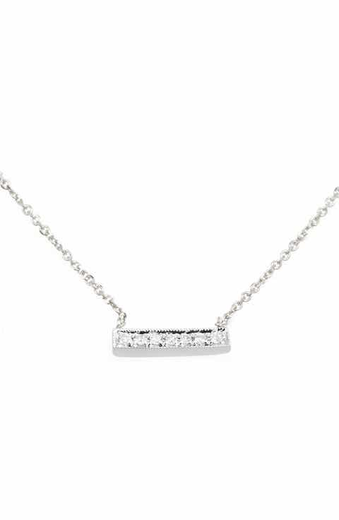 Dana Rebecca Designs Sylvie Rose Diamond Bar Pendant Necklace