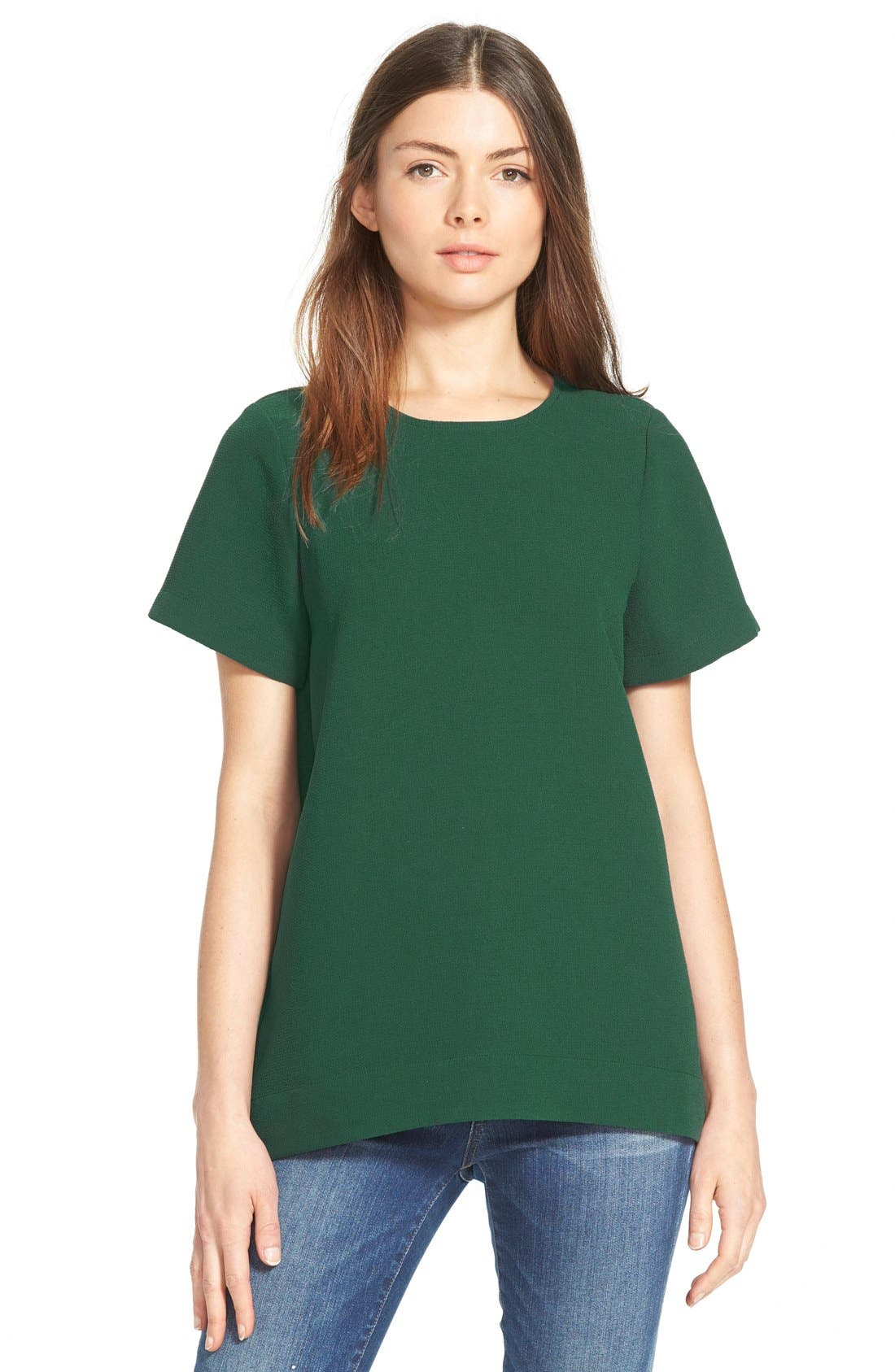 Madewell Pleated Short Sleeve Tee