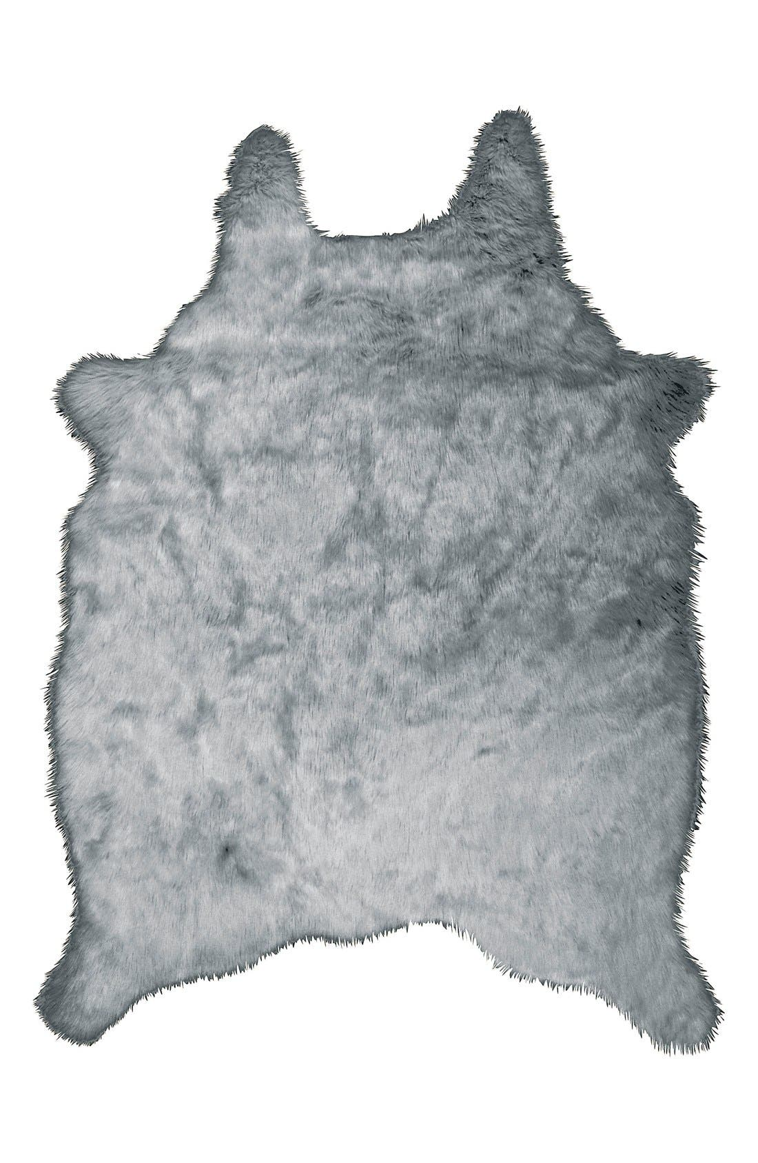 Alternate Image 1 Selected - Mina Victory Faux Fur Freeform Rug