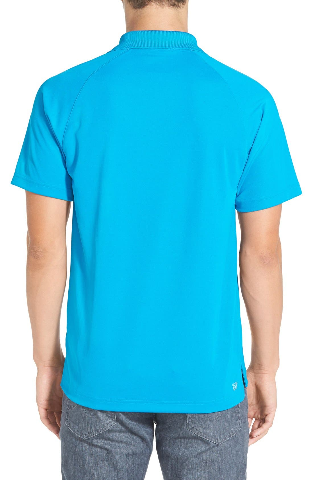 'Sport' Raglan Ultra Dry Performance Polo,                             Alternate thumbnail 2, color,                             Santorino Blue