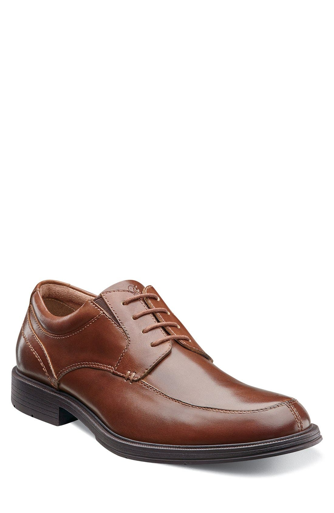'Mogul' Split Toe Derby,                             Main thumbnail 1, color,                             Medium Brown