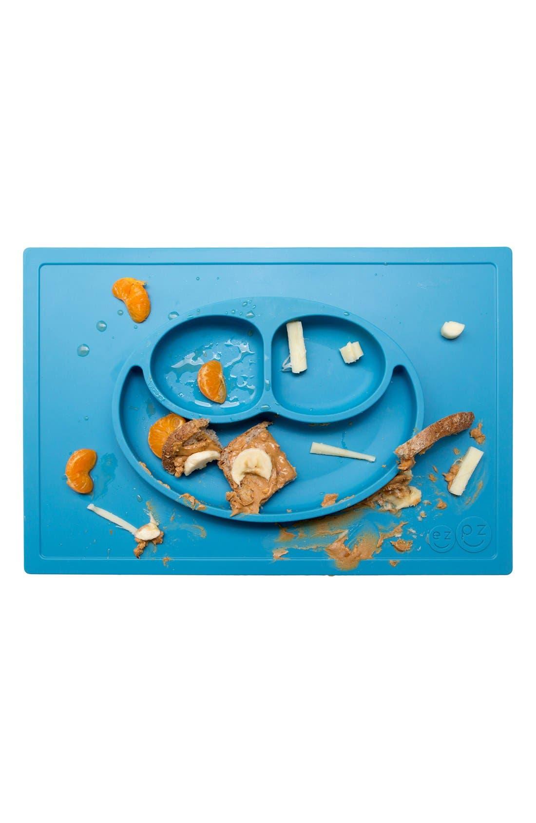 'Happy Mat' Silicone Feeding Mat,                             Alternate thumbnail 3, color,                             Blue