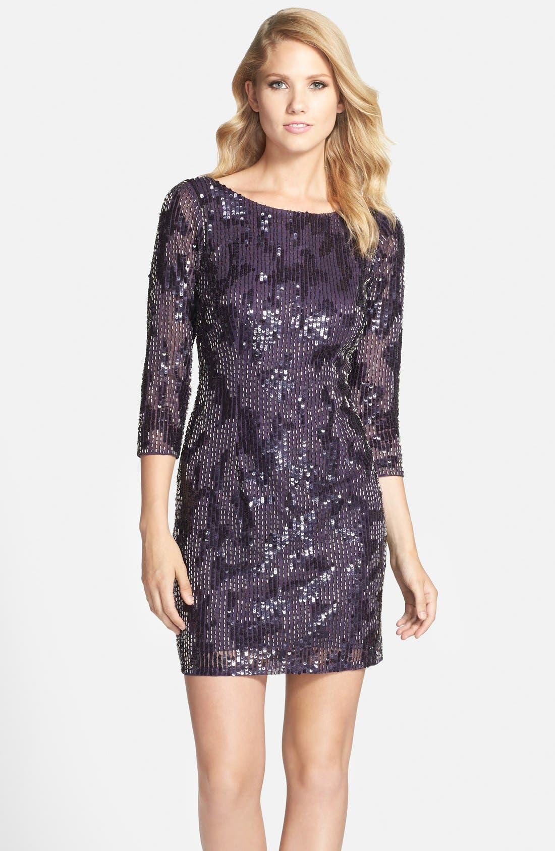 Alternate Image 1 Selected - Adrianna Papell Embellished Sheath Dress (Regular & Petite)