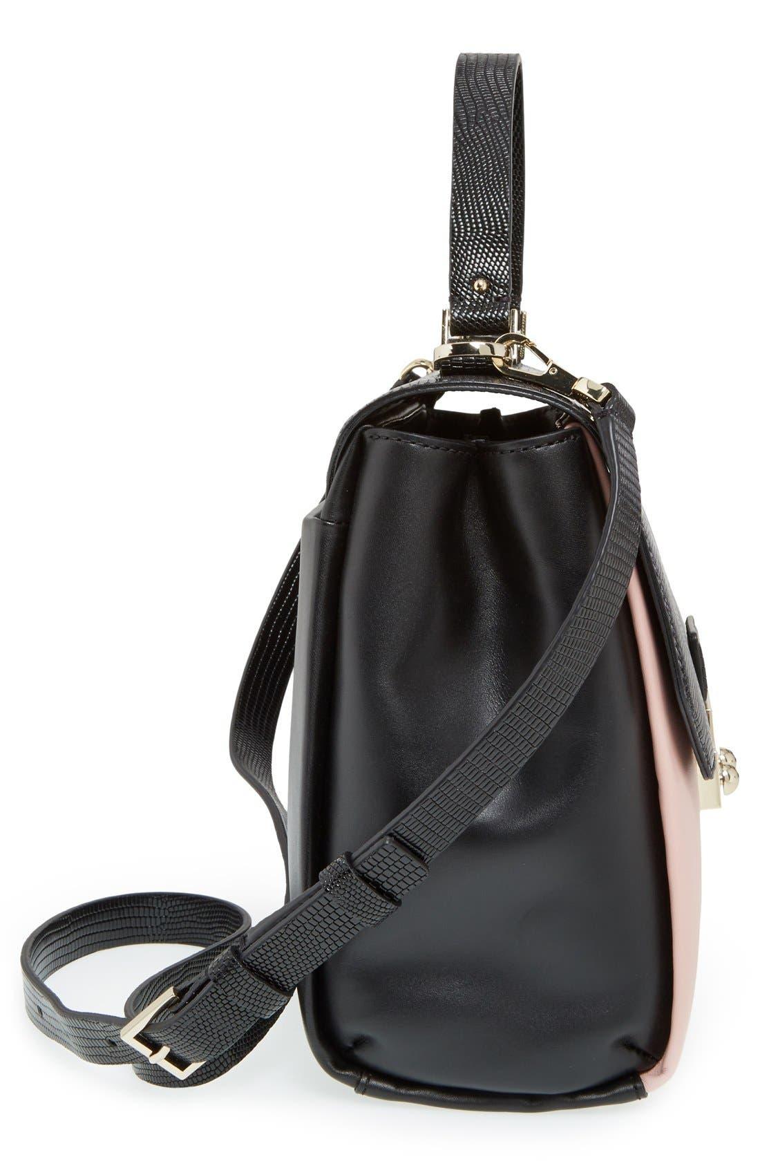 Alternate Image 5  - kate spade new york 'violet drive - kinslee' stripe leather satchel