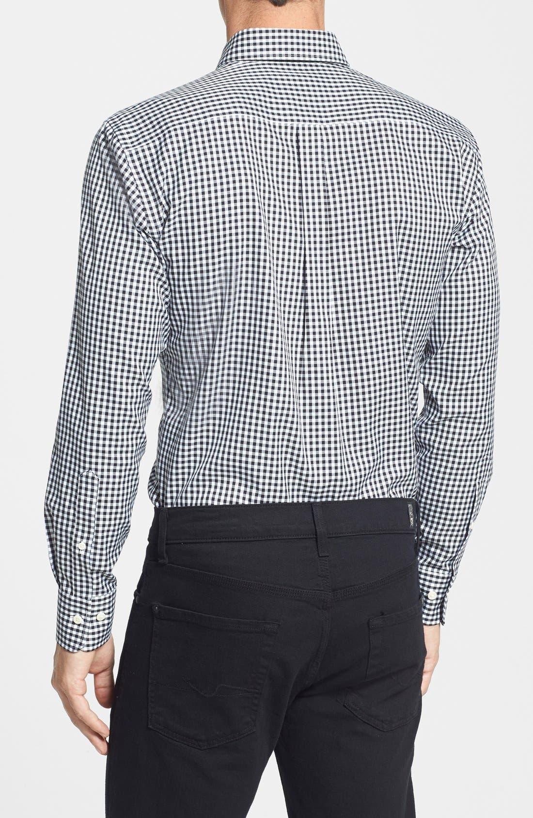 Alternate Image 2  - Peter Millar 'Nanoluxe' Regular Fit Wrinkle Resistant Twill Check Sport Shirt