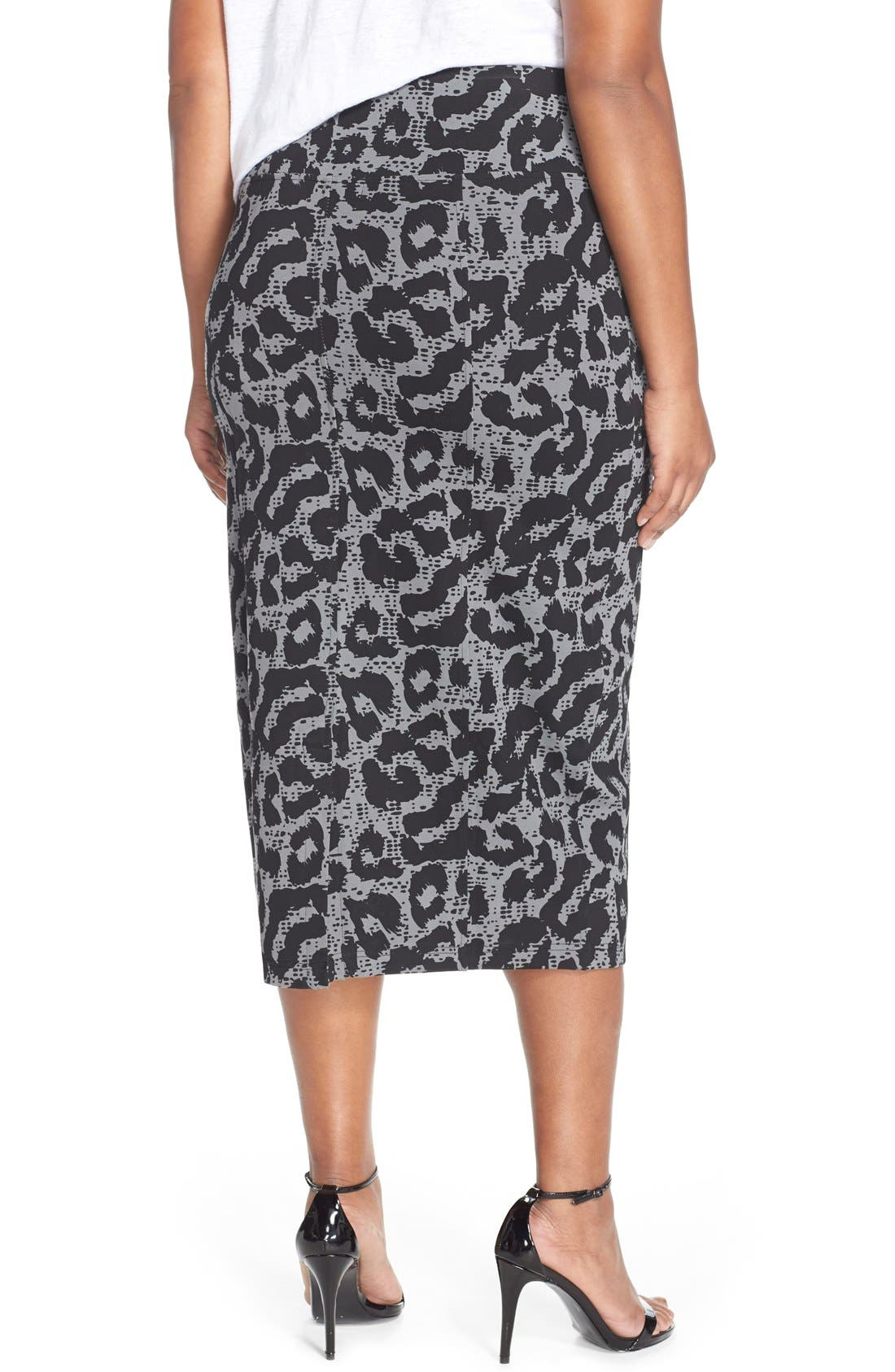 Alternate Image 2  - Melissa McCarthy Seven7 Ponte Pencil Skirt (Plus Size)