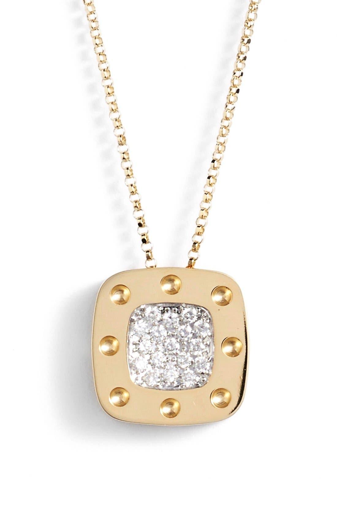Alternate Image 1 Selected - Roberto Coin 'PoisMoi' Diamond Pendant