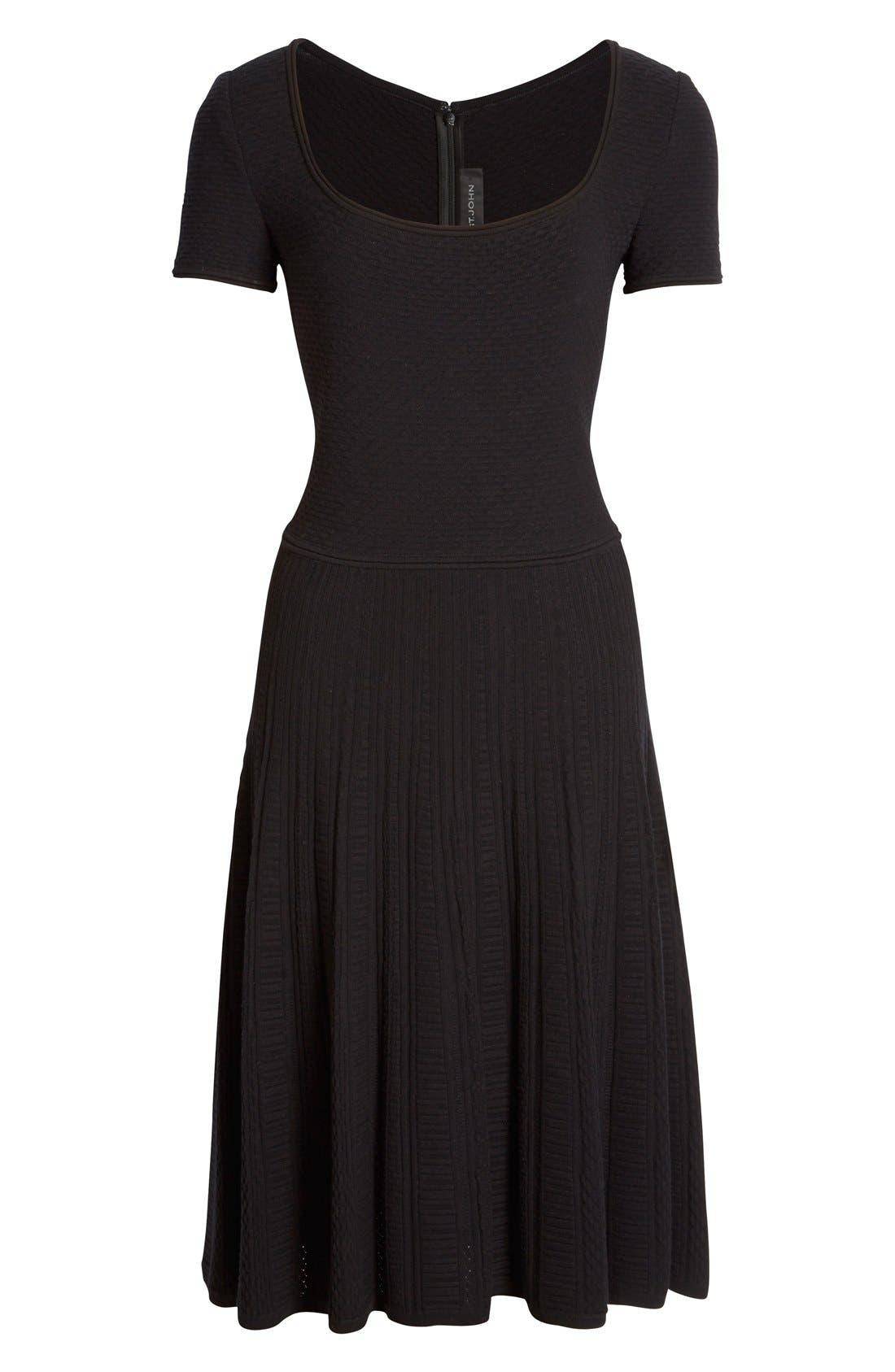 Alternate Image 6  - St. John Collection 'Colette'Flared Knit Dress