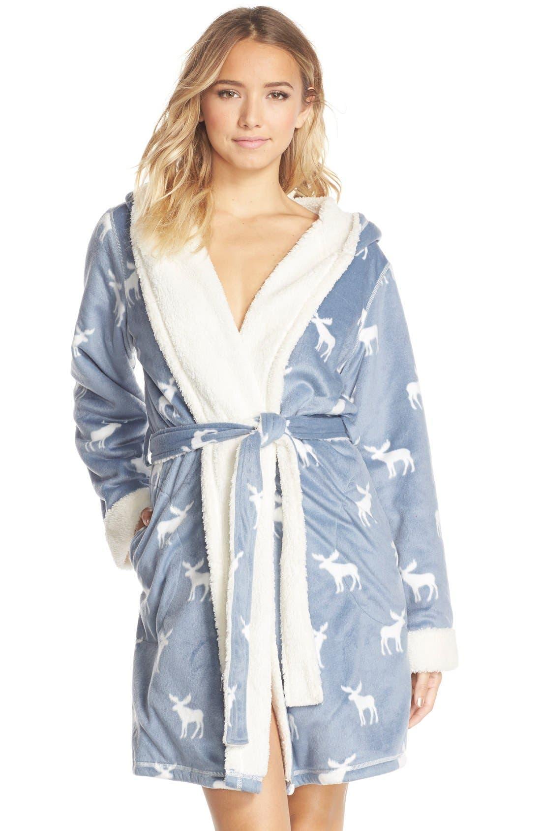 Alternate Image 1 Selected - PJ Salvage Fleece Short Robe