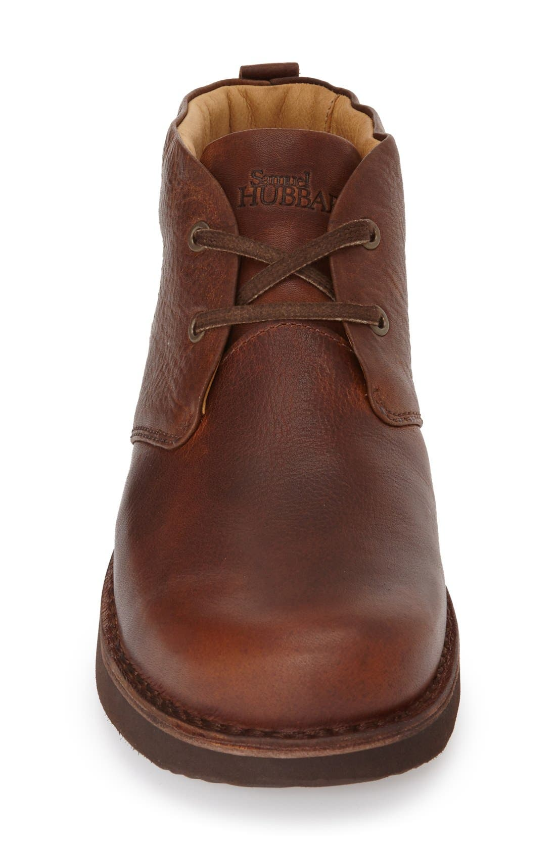 'Boot-Up' Chukka Boot,                             Alternate thumbnail 3, color,                             Saddle Tan Leather