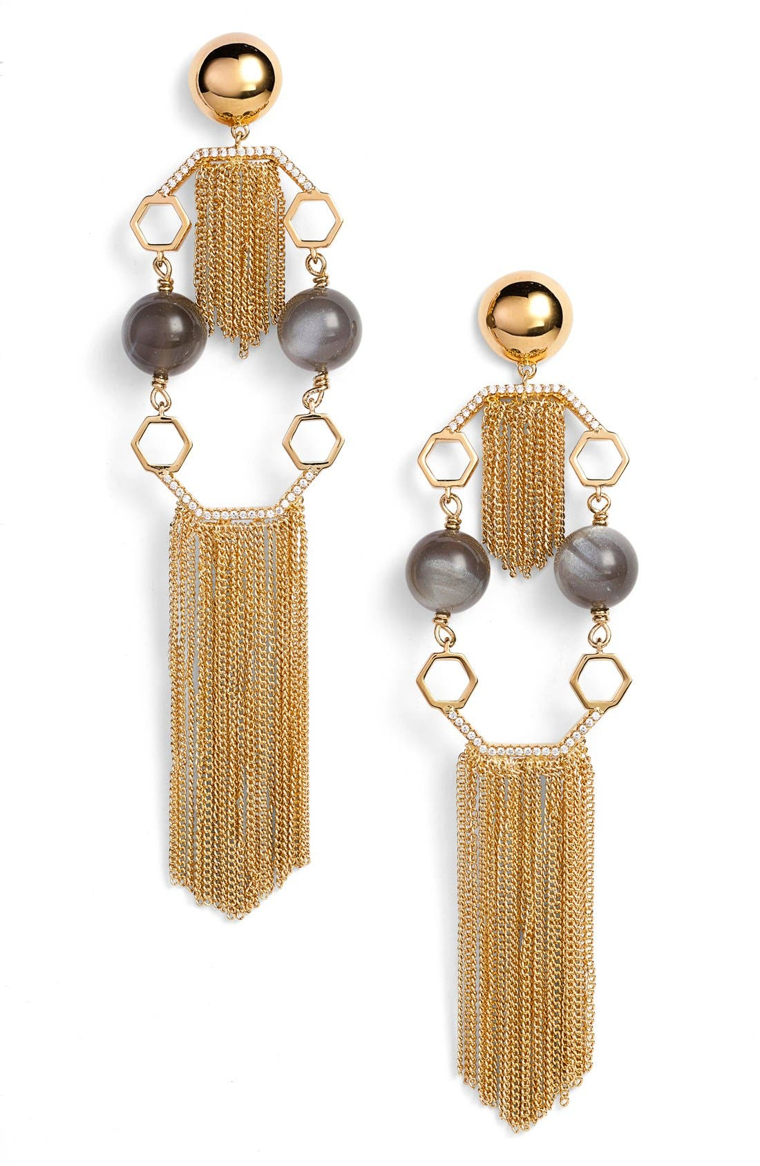 Alternate Image 1 Selected - Rachel Zoe 'Remy' Fringe Drop Earrings