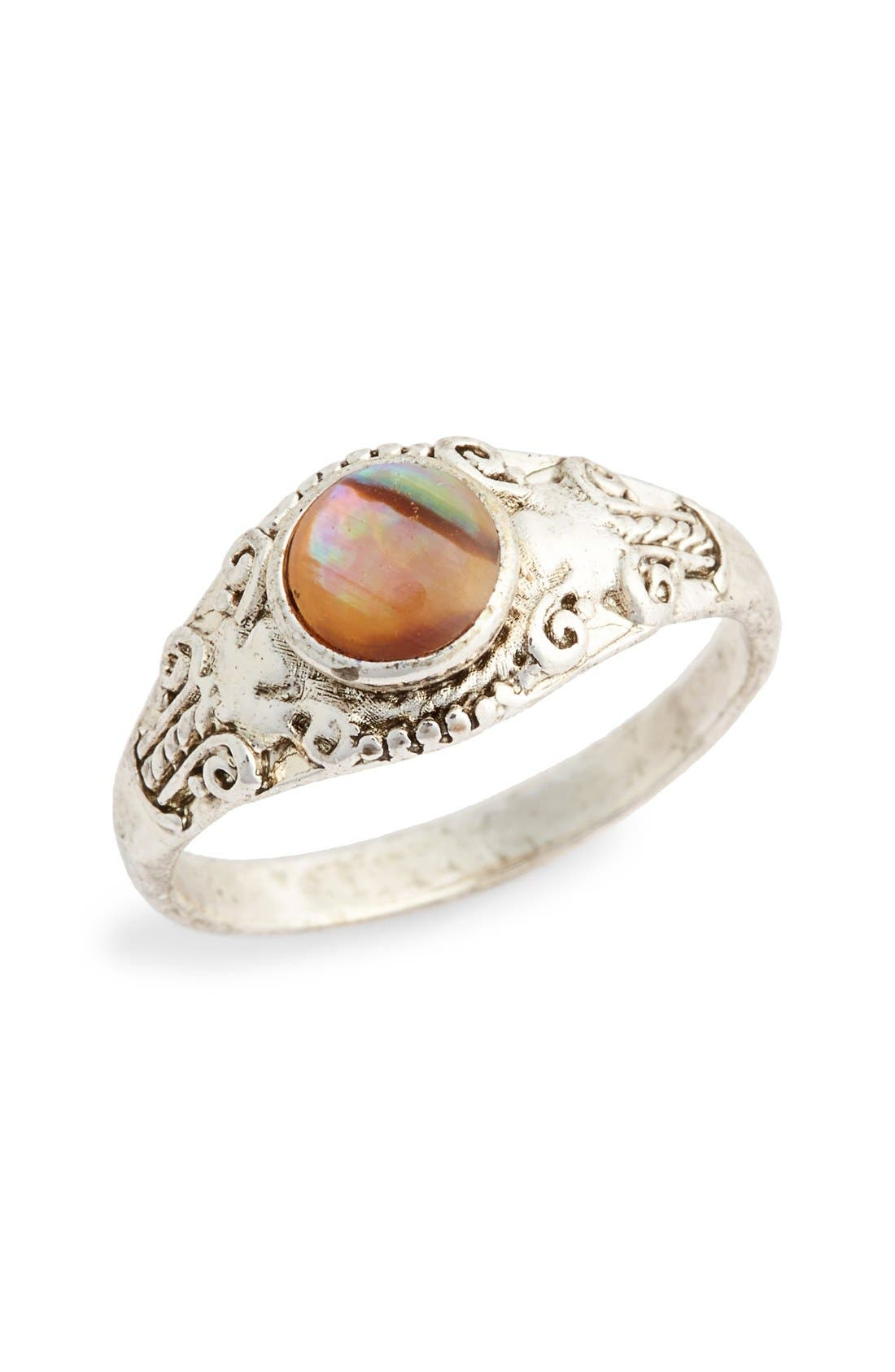 Alternate Image 1 Selected - Topshop 'Mystic' Stone Ring