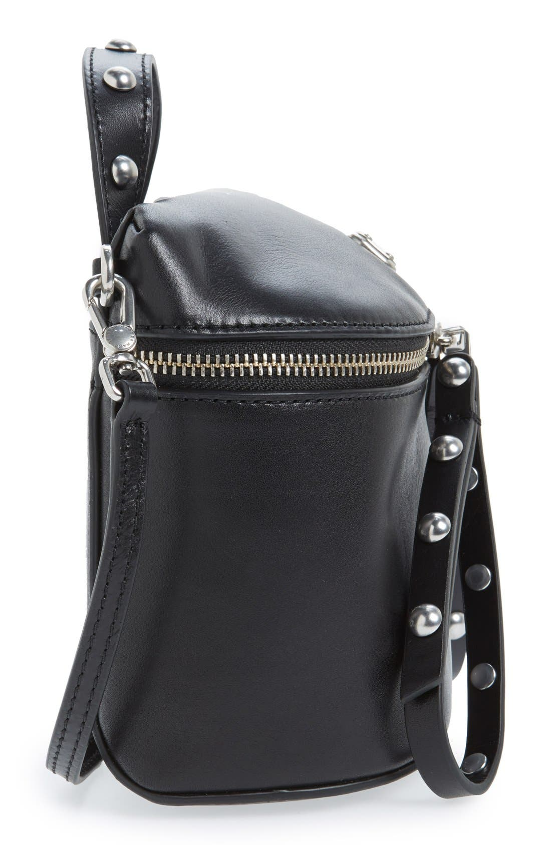 MARC BY MARC JACOBS 'Canteen Rivets' Crossbody Bag,                             Alternate thumbnail 5, color,                             Black