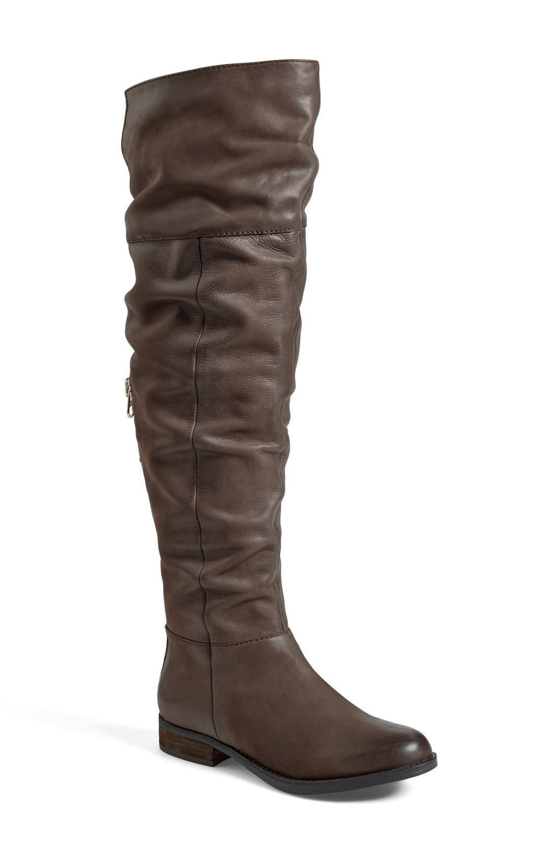 'Heisnbrg' Leather Over the Knee Boot,                             Main thumbnail 1, color,                             Brown Leather