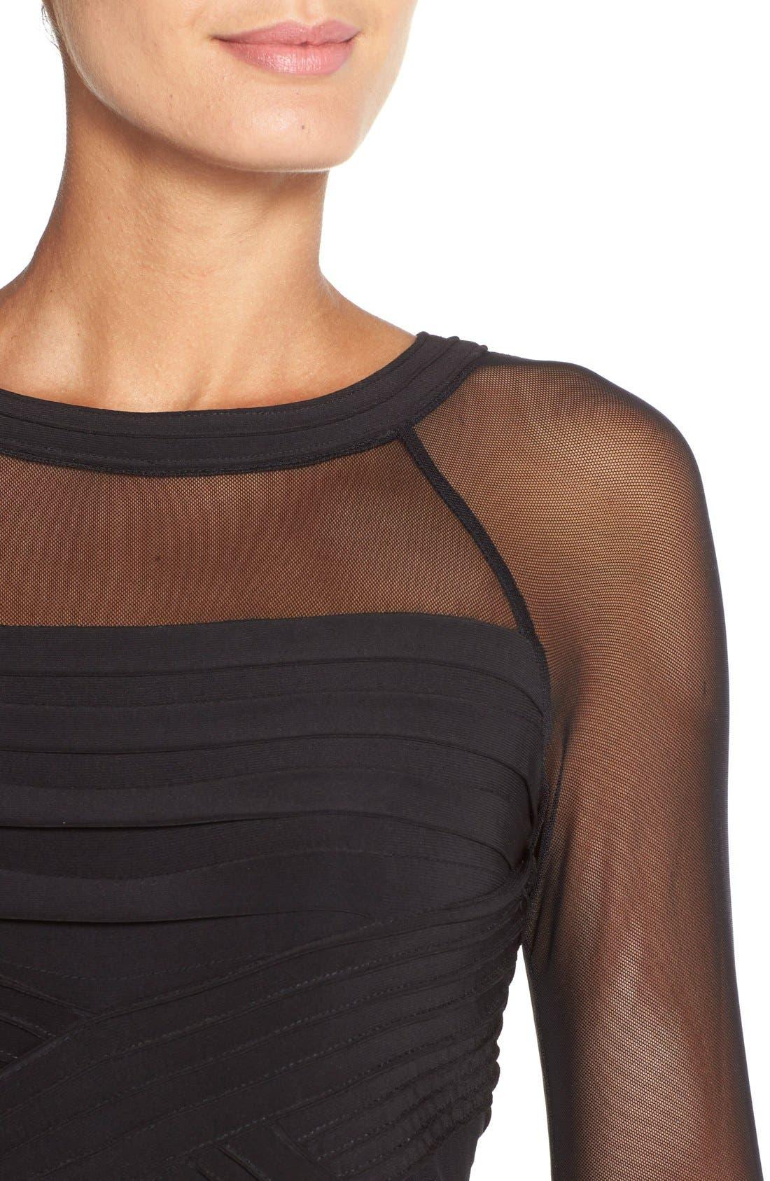 Alternate Image 5  - Adrianna PapellIllusion Pleated Jersey Shift Dress