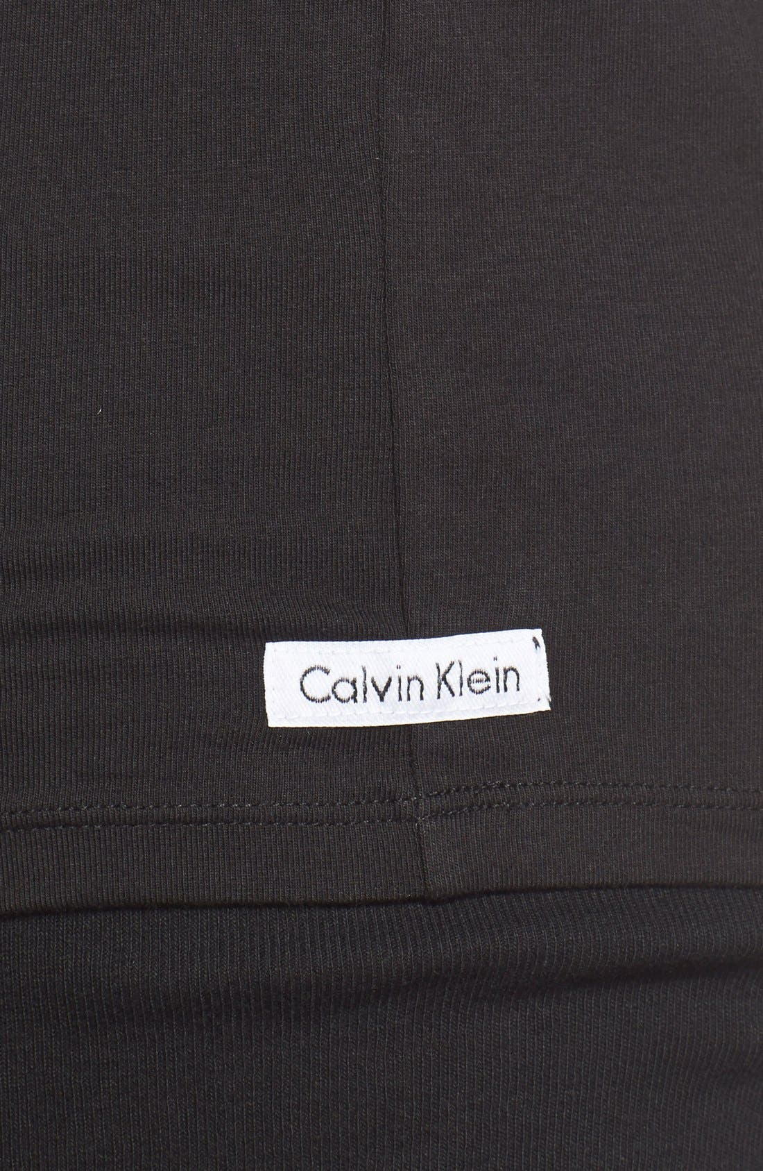 Alternate Image 4  - Calvin Klein 2-Pack Stretch Cotton Crewneck T-Shirt