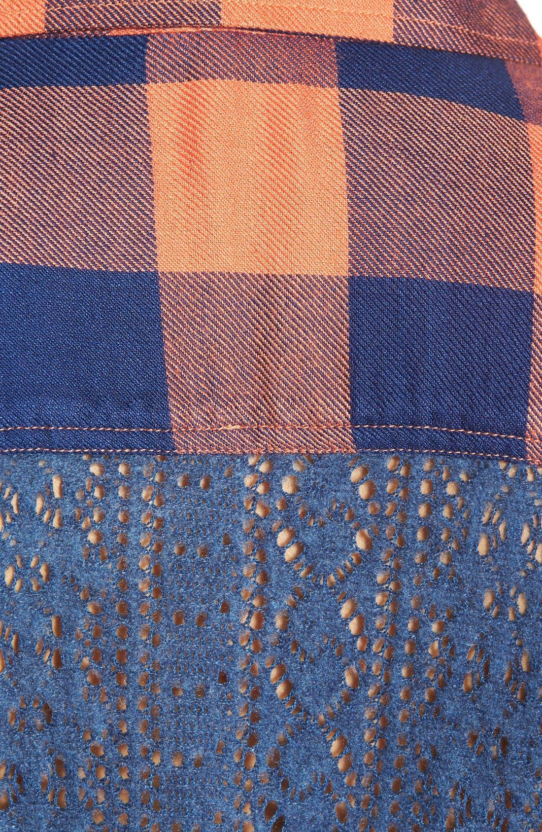 Alternate Image 5  - Rip Curl 'Dweller' Lace Back Flannel Shirt