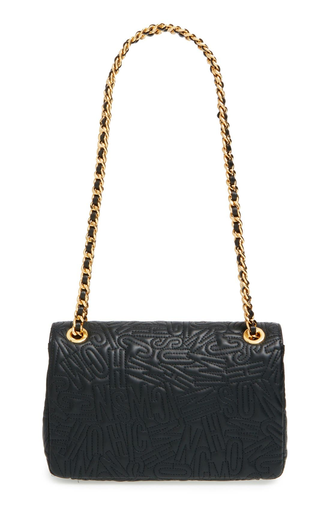 Alternate Image 3  - Moschino Logo Embossed Leather Crossbody Bag